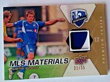 2012 Upper Deck MLS Materials Premium Justin Braun #22/35