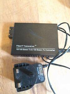 Fibre Optic Multi Mode Media Converter 100FX SC to RJ45 Ethernet 10/100 TX