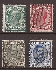 1906 SERIE LEONI + FLOREALE 1910 L. 10 n° 91 + 1926 L. 1,25 n° 202 USATI € 46,15