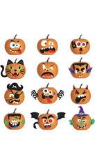 24 Pumpkin Sheets Foam Felt Shapes Children's Crafts Art Cards Big & Small Size