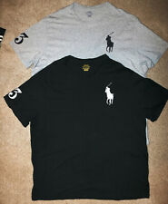 Polo Ralph Lauren Men's T-Shirt Size 1XB Gray or Black Big Pony #3 Sleeve
