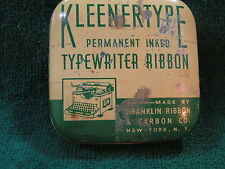 "Vintage TIN - KLEENERTYPE Typewriter Ribbon - 2 5/8"" square x 7/8""h -FreeShip"