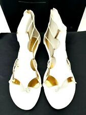 Very Volatile Womens Clea Gladiator Sandals Size 8.5 White Floating Front Casual