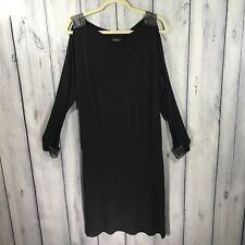 Cartise Dress Black Sexy Fancy Size 10 Stretchy Knit Split Sleeves