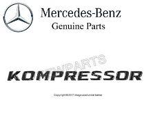 NEW Mercedes SLK32 Genuine Front Emblem - Kompressor - Fender 170 817 03 15