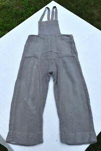 vtg 40's gray cotton silk little boy child's children's OVERALLS pockets boys
