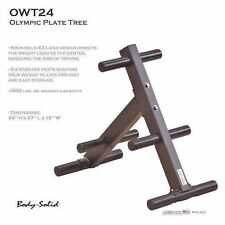 Body Solid Olympic E-Z Load WEIGHT TREE Gym Rack Storage Plate Stand OWT24