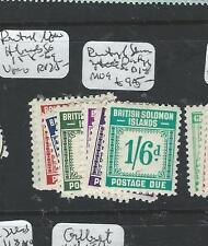 BRITISH SOLOMON ISLANDS (P0706B)  POSTAGE DUE SGD1-8  MOG