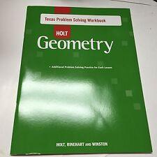 Holt Geometry Texas Problem Solving Workbook Homeschool