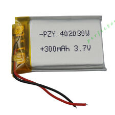 3.7V 300 mAh Polymer Li battery Lipo For bluetooth headset pen Sat nav 402030