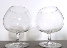 BACCARAT 2 verres Dégustation Cognac 11,5cm cristal signé #Lot1