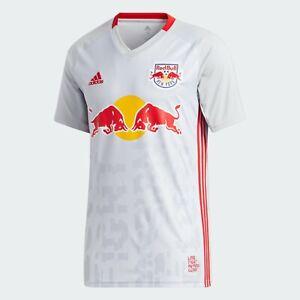 Adidas New York Red Bulls Home Soccer Kit Jersey 2020 Grey Red Men GE5914