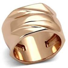 Rose Gold Plated Band Costume Rings Sizableless