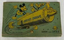 WALT DISNEY  MICKEY MOUSE  PENCIL CASE  DIXON 2903  C. 1935  DONALD DUCK  ROCKET