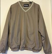 Vintage Totes Pullover Rainwear Windbreaker Lightweight - Grey - Size Large L