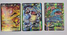 FULL ART Blastoise, Charizard, Venusaur,  EX XY121 122 123 Pokemon Generations