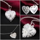 Femmes Collier en argent Plaqué pendentif d'amour coeur Saint-Valentin amoureux