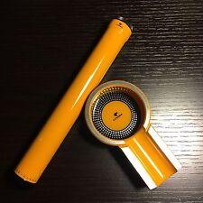 Cohiba Yellow Titanium Cigar Ashtray Holder + Single Cigar Humidor Tube Holder