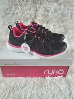 Ryka Women's Divine Training Athletic Black Pink Tennis Shoes Size 9M