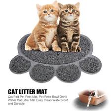 Quality Gray Cat Litter Trap Mat Non-Slip Backing Dirt Catcher Soft on Paws
