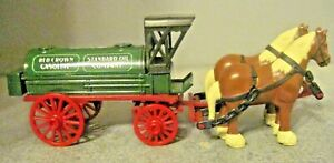 ERTL Horses and Tank Wagon Bank Standard Oil Amoco Red Crown Gasoline 9563 Ltd