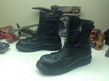 GICB BELLEVILLE  MILITARY USA BLACK LEATHER LACE UP ENGINEER BOSS ARMY BOOTS 11W