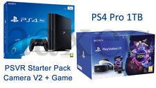 PS4 Pro Playstation 4 Pro 1TB + VR Headset PSVR V2 + Camera V2 *NEW SEALED*
