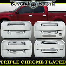 2004-2014 Ford F-150 F150 4dr Chrome Door Handle Cover WithOut Psgr With Keypad