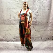Handmade Baggy Jumpsuit Harem Pant Patchwork Overall One Plus Size Fits XXXL