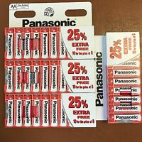 40 x AA Genuine PANASONIC Zinc Carbon Batteries - New R6 1.5V Expiry 2021