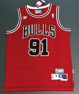 New Retro Dennis Rodman #91 Chicago Bulls Basketball Jersey Stitched Red S-XXL