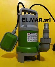 Pompa Sommersa HP 1 Elettropompa Monofase Fogna 750 W acque sporche LOLA750