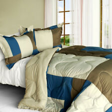 [Carmen Memory] Quilted Patchwork Down Alternative Comforter Set (Twin Size)