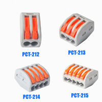 50PCS Reusable Spring Lever Terminal Block SPL-3 Cable Connector Wire 3Way