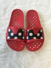 Ladies Crocs Minnie Mouse Red Slides Sandals Size 8