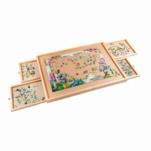 """Puzzle-Tisch """"Deluxe"""" mit 4 Schubladen Unterlage Puzzle Board Holz"""