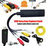 USB 2.0 VHS To DVD Video Capture Card Audio Converter RCA EasyCap Adapter