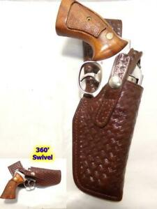 "H704 Brown BW DON HUME PD Swivel Gun Holster S&W K Frame 10 15 19 64 66 4"""