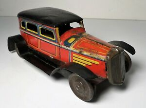 Vintage Pre War Tin Litho Sedan #538 Car / Limousine - Trade Mark K.K Japan