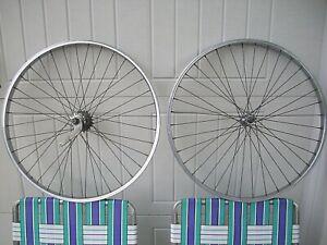 """Vintage Schwinn 26"""" bicycle S7 chrome rims (2) wheels  VERY NICE  CLEAN"""