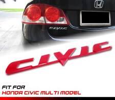 Red CIVIC Letter Logo Emblem Badge Sticker 1Pc For Honda Multi Model