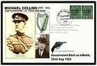 Ireland, General Michael Collins Commemorative Card & Oriiginal Penny Coin