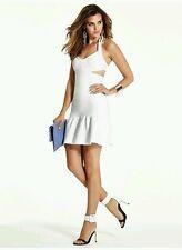 NWT GUESS WHITE Mirage Sleeveless Bandage Dress with Cutouts size XXS