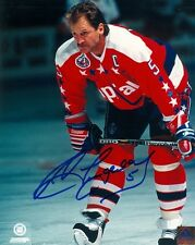 WASHINGTON CAPITALS ROD LANGWAY SIGNED 8x10 PHOTO w/COA