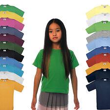 NEU - B&C Exact 150 Kids - Kinder Kurzarm Rundhals T-Shirt - 20 Farben - 98 -164