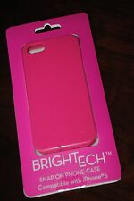 Solid HOt Pink  iphone 5 5s compatible Printech snap case cover brightech girl