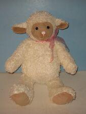 """18"""" Gund """"Felice"""" White Cuddly Baby Lamb Floppy Plush"""