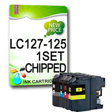 4 CHIPPED Ink Cartridge For LC127 LC125 DCP-J4110DW MFC-J4410DW