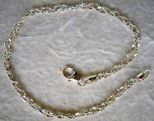 Italian Made Braided Sterling Silver Ankle Bracelet 9""