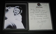 Iris Adrian Signed Framed 1980 Letter & Photo Display